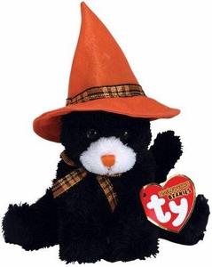 Ty Halloweenies Beanie Baby Screams the Cat Halloweenie Beanie