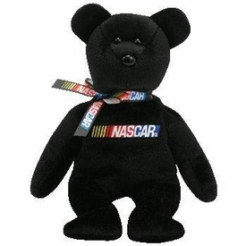 Ty NASCAR Beanie Baby Bear BLACK Version