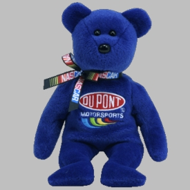 Ty NASCAR Beanie Baby Bear Jeff Gordon #24