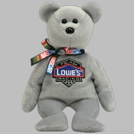 Ty NASCAR Beanie Baby Bear Jimmie Johnson #48
