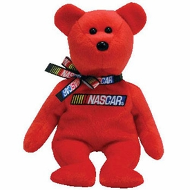 Ty NASCAR Beanie Baby Bear RED Version