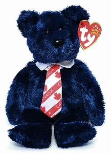Ty October 2003 Beanie Baby of the Month Popcorn the Bear
