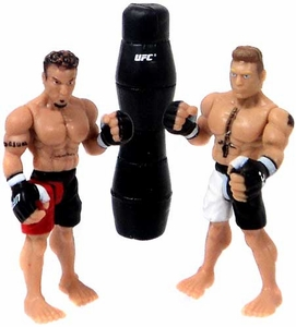 UFC Jakks Pacific Series 1 Ultimate Fighters LOOSE Micro Figure 2-Pack Brock Lesnar vs. Frank Mir [UFC 100]
