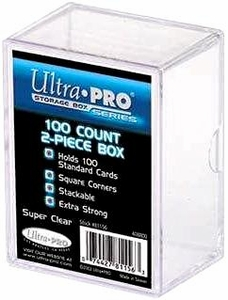 Ultra Pro Card Supplies 100 Count 2-Piece Clear Box