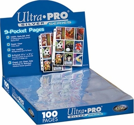 Ultra Pro Card Supplies 100 Nine Pocket Pages Silver Series