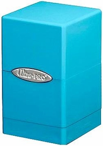 Ultra Pro Card Supplies Satin Tower Light Blue Deck Box