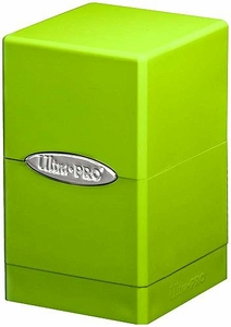 Ultra Pro Card Supplies Satin Tower Lime Green Deck Box