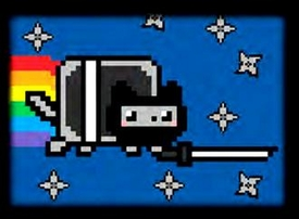 Ultra Pro Card Supplies Side-Load Full View Deck Box Ninja Nyan Cat Pre-Order ships October
