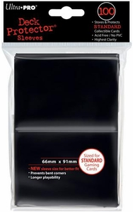 Ultra Pro Card Supplies STANDARD Card Sleeves Black [100 Sleeves]