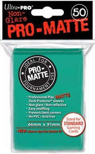 Ultra Pro Card Supplies STANDARD Card Sleeves Non Glare Pro-Matte Aqua [50 Sleeves]