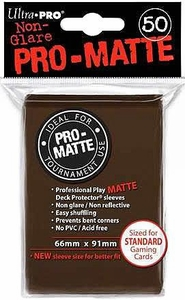 Ultra Pro Card Supplies STANDARD Card Sleeves Non Glare Pro-Matte Brown [50 Sleeves]