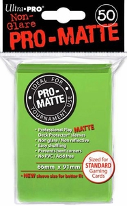 Ultra Pro Card Supplies STANDARD Card Sleeves Non Glare Pro-Matte Lime Green [50 Sleeves]