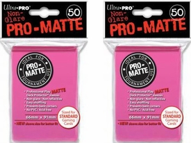 Ultra Pro Card Supplies STANDARD Card Sleeves Non Glare Pro-Matte Pink [100 Sleeves]