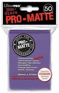 Ultra Pro Card Supplies STANDARD Card Sleeves Non Glare Pro-Matte Purple [50 Sleeves]