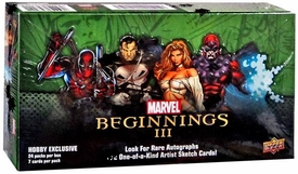 Upper Deck 2012 Marvel Beginnings Series 3 Trading Card Hobby Box [24 Packs]