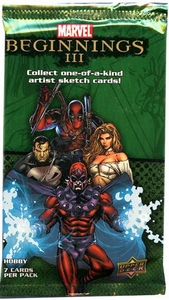 Upper Deck 2012 Marvel Beginnings Series 3 Trading Card Pack [7 Cards]