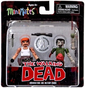 Walking Dead Minimates Series 5 Exclusive Mini Figure 2-Pack Abraham Ford & Military Zombie