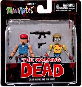 Walking Dead Minimates Series 5 Mini Figure 2-Pack Caesar Martinez & Geek Zombie