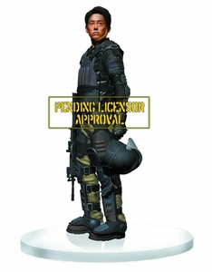 Walking Dead TV Gentle Giant 1/4 Scale Statue Glenn [Riot Gear] Pre-Order ships May