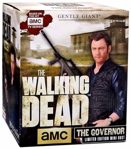 Walking Dead TV Series Gentle Giant Mini-Bust The Governor New!