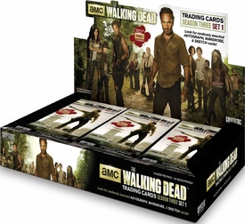 Cryptozoic The Walking Dead TV Season 3 Trading Card Box [24 Packs]
