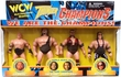 WCW Wrestling Thunder Champions Action Figure 4-Pack Goldberg, The Giant, Scott Hall & Bret Hart