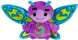 Webkinz Plush Zumbuddy Zype [Purple with Blue & Green Wings]