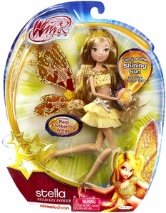Winx Club 11.5 Inch DELUXE Fashion Doll Believix POWER Stella [Fluttering Wings]