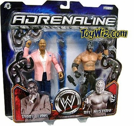 WWE Jakks Pacific Wrestling Adrenaline Series 13 Action Figure 2-Pack Theodore Long & Rey Mysterio Damaged Package, Mint Contents!