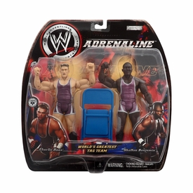 WWE Jakks Pacific Wrestling Adrenaline Series 5 Action Figure 2-Pack World's Greatest Tag Team Charlie Haas & Shelton Benjamin BLOWOUT SALE!
