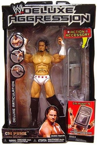 WWE Jakks Pacific Wrestling DELUXE Aggression Series 8 Action Figure CM Punk
