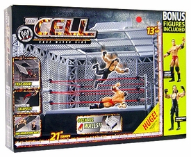 WWE Wrestling Exclusive The Cell Cage Match Ring with 2 Bonus Action Figures [Randy Orton & Undertaker] Damaged Package, Mint Contents!