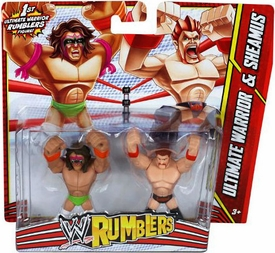WWE Wrestling Rumblers Mini Figure 2-Pack Ultimate Warrior & Sheamus
