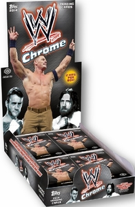 WWE Wrestling Topps 2014 Chrome Trading Card Box [24 Packs] New!