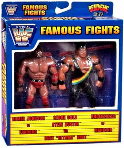 WWF / WWE Wrestling Famous Fights Bend-Ems 2-Pack Ahmed Johnson Vs Faarooq