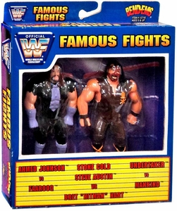 WWF / WWE Wrestling Famous Fights Bend-Ems 2-Pack Undertaker Vs Mankind