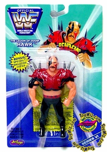 WWF / WWE Wrestling Superstars Bend-Ems Figure Series 6 Hawk