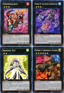 YuGiOh 2013 Super Starter: V for Victory Set of 4 XYZ Monster Single Cards BLOWOUT SALE!