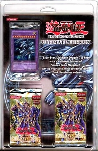 YuGiOh Card Game Ultimate Edition Blister Pack Set With Blue Eyes Ultimate Dragon Promo!