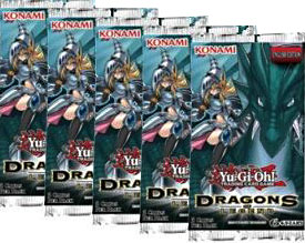 YuGiOh Dragons of Legend Lot of 5 Booster Packs Pre-Order ships April 25, 2014