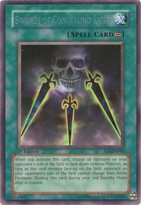 YuGiOh Flaming Eternity Single Card Rare FET-EN042 Swords of Concealing Light