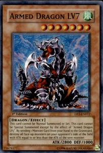 YuGiOh GX Duelist Pack Chazz Single Card Super Rare DP2-EN012 Armed Dragon LV7