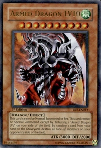 YuGiOh GX Duelist Pack Chazz Single Card Ultra Rare DP2-EN013 Armed Dragon LV10