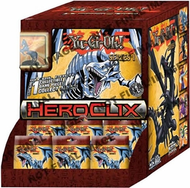 YuGiOh HeroClix Series 1 Gravity Feed Box  [24 Packs] Pre-Order ships April