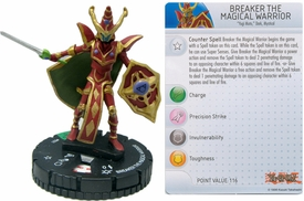 YuGiOh HeroClix Single Figure #21 Breaker the Magical Warrior