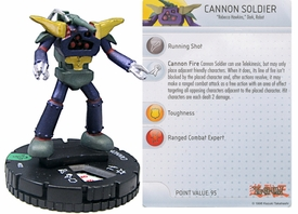 YuGiOh HeroClix Single Figure #22 Cannon Soldier