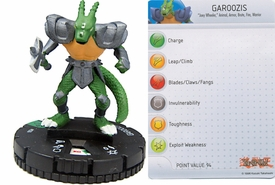 YuGiOh HeroClix Single Figure #26 Garoozis