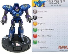 YuGiOh HeroClix Single Figure #3 Cyber Soldier of Darkworld