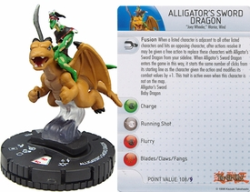 YuGiOh HeroClix Single Figure #32 Alligator's Sword Dragon