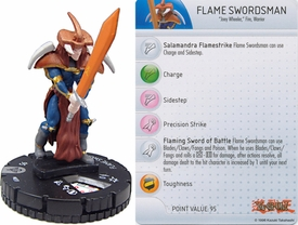YuGiOh HeroClix Single Figure #37 Flame Swordsman